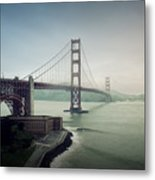 Fog And The Bridge Metal Print