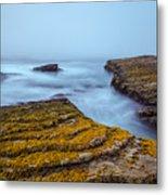 Fog And The Sea Metal Print
