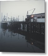 Fog Before Sunrise Metal Print