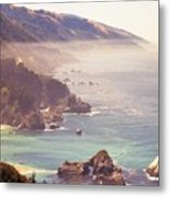 Fog Big Sur Metal Print