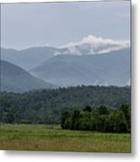Fog Forming In The Mountains Metal Print