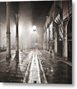 Fog In The Market Metal Print