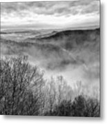 Fog In The Mountains - Pipestem State Park Metal Print