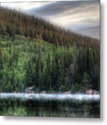 Fog On Bear Lake Metal Print