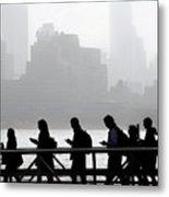 Fog On The Hudson Metal Print