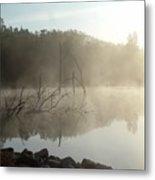 Fog On The Lake Metal Print