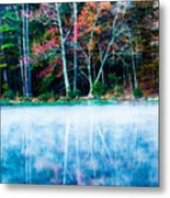 Fog On The Lake Metal Print
