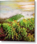 Fog On The Vines Metal Print