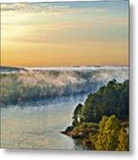 Fog Over Savannah River Metal Print
