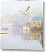 Fog Over West Dover - Digital Paint Metal Print