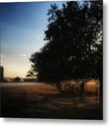 Foggy Country Morning  Metal Print