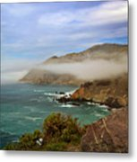 Foggy Day At Big Sur Metal Print