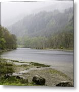 Foggy Day At Loch Lubnaig Metal Print