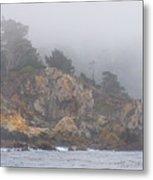 Foggy Day At Point Lobos Metal Print