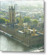 Foggy Day In London Town Metal Print