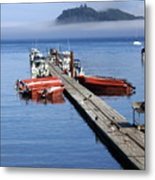 Foggy Dock Metal Print