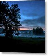 Foggy Evening In Vermont - Landscape Metal Print