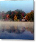 Foggy Fall Reflections Metal Print