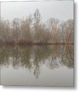 Foggy Lagoon Reflection #5 Metal Print