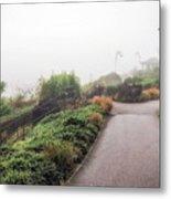 Foggy Langmoor Gardens - Lyme Regis Metal Print