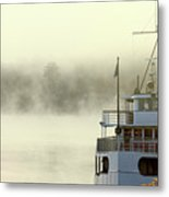 Foggy Morning Cruise Metal Print