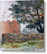 Foggy Morning In Maine Metal Print