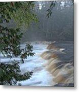 Foggy Morning On Lower Tahquamenon Falls Metal Print