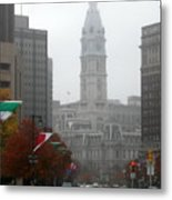 Foggy Philadelphia Metal Print