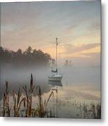Foggy Sunrise At Great Pond 3 Metal Print