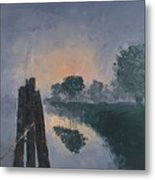 Foggy Sunrise At The Locks Metal Print
