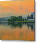 Foggy Sunrise At The Tidal Basin Metal Print