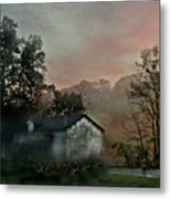 Foggy Sunrise In The Mountains Metal Print
