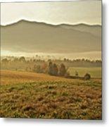 Foggy Valley Metal Print