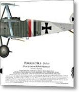 Fokker Dr.1 - 214/17 - March 1918 Metal Print