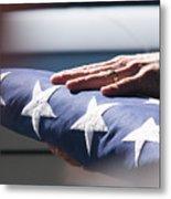Folded American Flag Metal Print