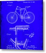 Folding Bycycle Patent Drawing 1h Metal Print