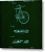Folding Bycycle Patent Drawing 2a Metal Print