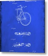 Folding Bycycle Patent Drawing 2d Metal Print