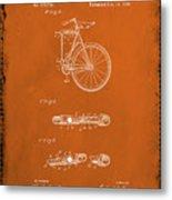 Folding Bycycle Patent Drawing 2e Metal Print