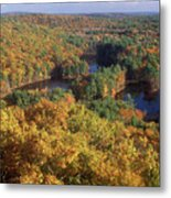 Foliage View From Crow Hill Leominster Metal Print