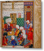 Folio From A Divan Of Mahmud Metal Print