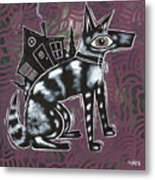 Dog House Folk Art Metal Print