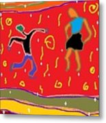 Folk Dancers Metal Print