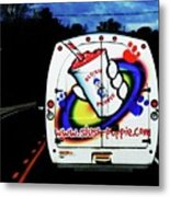 Follow That Van Metal Print by Cyryn Fyrcyd