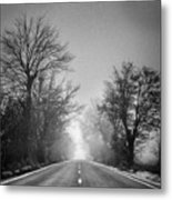 Follow Your Dreams    Monochrome Metal Print