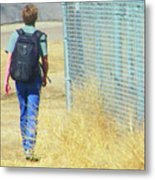 Following The Fence Home Metal Print