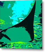 Following The Great Ray Metal Print