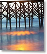Folly Beach Abstract Metal Print