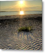 Folly Beach First Light Over The Morris Island Lighthouse Metal Print
