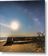 Folly Beach Milky Way Metal Print